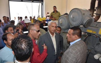 افتتح السيد اللواء محافظ البحيرة محطة صرف صحى قرية النجيلة بمركز كوم حمادة