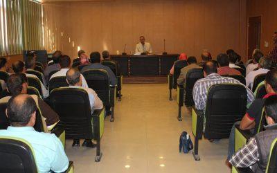 اجتمع السيد رئيس مجلس الادارة بالسادة مديرى الفروع والسادة رؤساء الشئون المالية بالشركة