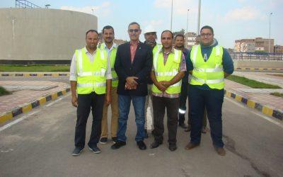 زيارة السيد المهندس عزت الصياد رئيس مجلس الادارة  محطة مياه المحمودية الجديدة