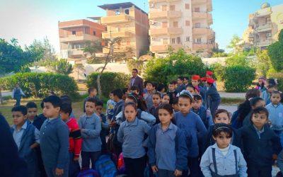زيارة فريق التوعية لمدارس حوش عيسي