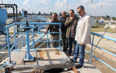 زيارة السيد المهندس عزت الصياد رئيس الشركة محطة معالجة الصرف الصحى بالكوم الاخضر