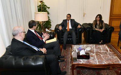 لقاء الدكتور مصطفى مدبولى رئيس مجلس الوزراء مع بعثة البنك الدولى