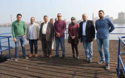 زيارة السيد المهندس عزت الصياد رئيس مجلس الاداره مأخذ ومحطةمياهادفينا