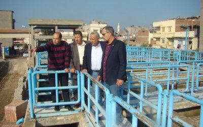 زيارة السيد المهندس عزت الصياد رئيس مجلس الادارة لمحطة مياه منية السعيد