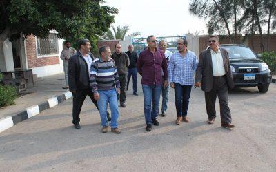 زيارة السيد المهندس عزت الصياد رئيس مجلس الاداره  لمحطة صرف صحى رشيد