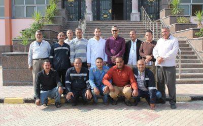 زيارة السيد المهندس عزت الصياد رئيس مجلس الاداره محطة مياه كوم حماده
