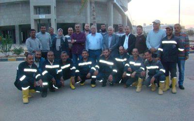 زيارة السيد المهندس عزت الصياد رئيس مجلس الادارة محطة مياه بدر