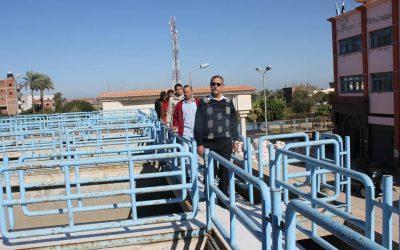 زيارة المهندس عزت الصياد محطة مياه معمل القزاز