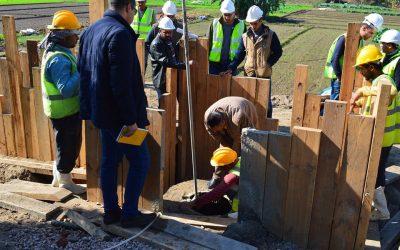 زيارة مسئولي السلامة والصحة المهنية والمشاركة المجتمعية بوحدة تنفيذ المشروع (PIU) لقرية البريجات