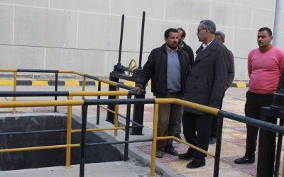 قام السيد المهندس عزت الصياد رئيس مجلس الادارة بزيارة محطة رافع صرف صحى