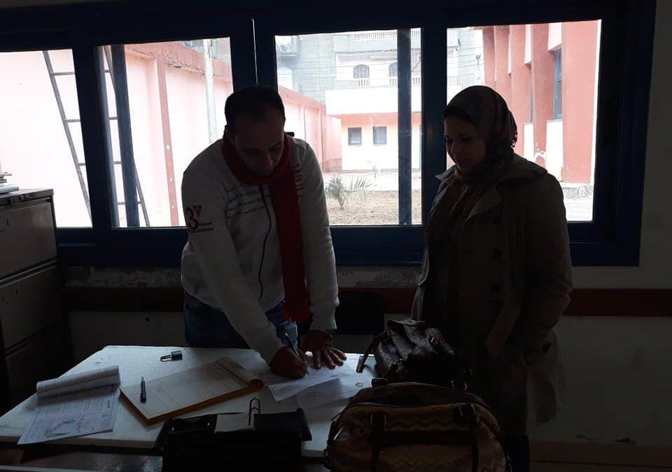 قيام فريق المشاركة المجتمعية بزيارة محطات وروافع صرف صحى دمنهور