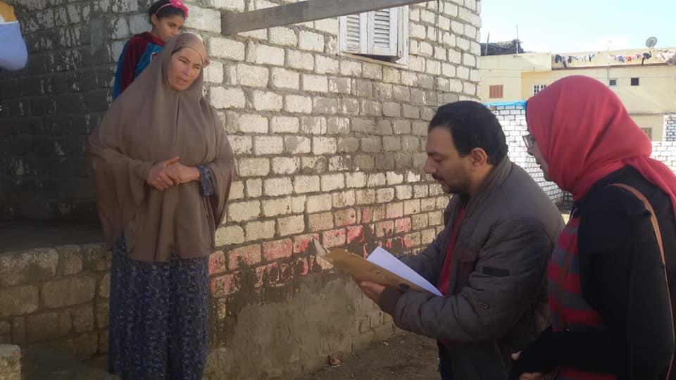 زيارة اللجنة للحالات المقدمة من جمعية الوفاء لتنمية المجتمع ( قرية الغيته وتوابعها – أبو المطامير )