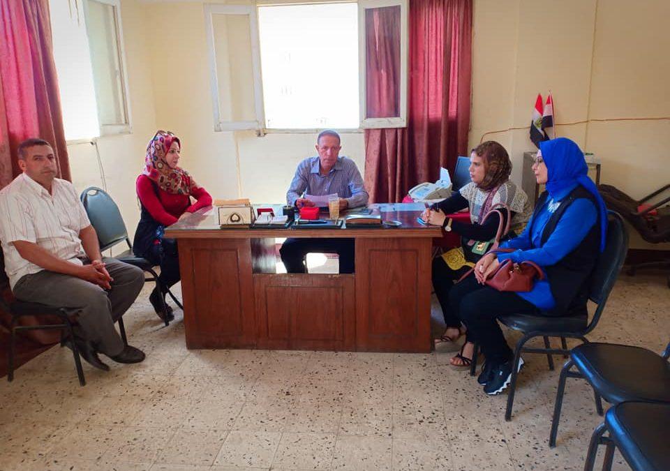 قام فريق المشاركة المجتمعية بالتعرف على حالة مياه الشرب والصرف الصحى  بمركز قرية المجد مركز الرحمانية