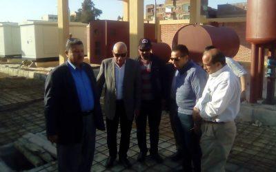 زيارة السيد المهندس رئيس مجلس الادارة والعضو المنتدب رافع صرف صحى زهرة بكفر الدوار