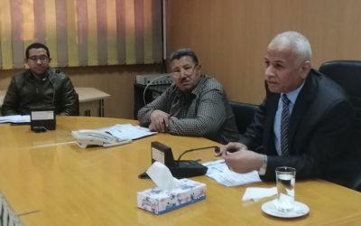 متابعة الموقف التنفيذي لمشروعات برنامج الاتحاد الاوربى بنطاق محافظة البحيره