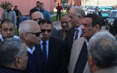 تفقد السيد اللواء محافظ البحيره يرافقه السيد المهندس رئيس مجلس الادارة توسعات محطة مياه ابو حمص