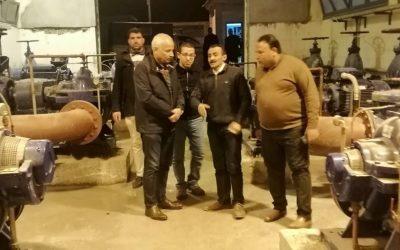 قام السيد المهندس رئيس مجلس الاداره والعضو المنتدب بزيارة لمحطة مياه كوم القناطر