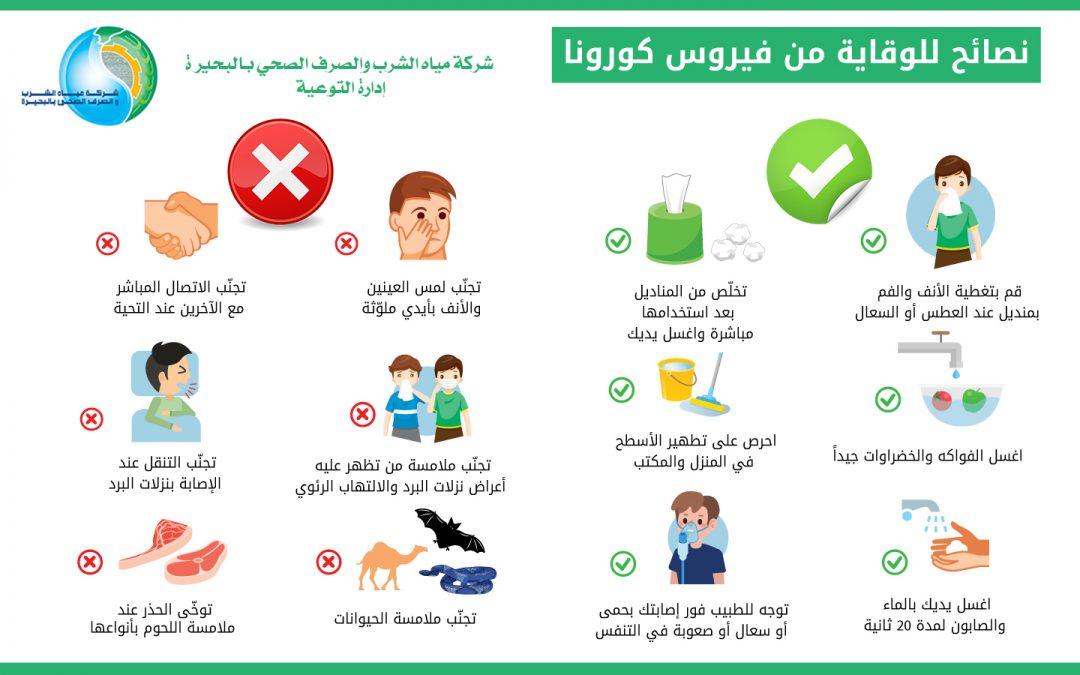 نصائح للوقاية من فيروس كورونا