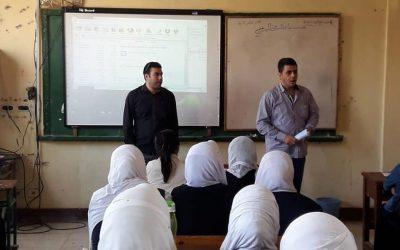 زيارة فريق التوعية لمدارس مركز بدر بجنوب التحرير