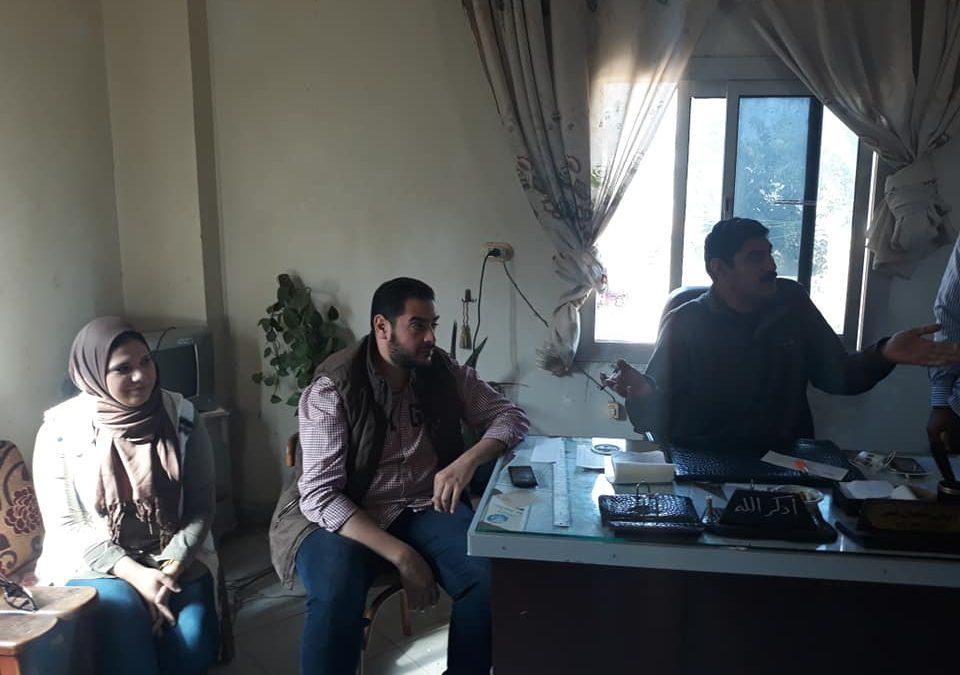 زيارة فريق المشاركة المجتمعية للوحدة المحلية بقرية صفط الحرية التابعة لمركز ايتاى البارود