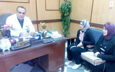 قام مسئولى المشاركة للمجتمعية بزيارة مستشفى الصدر وعمل توعية للعاملين
