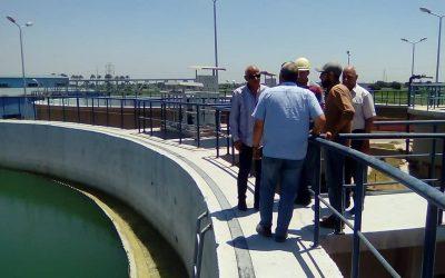 زيارة السيد المهندس محمد سعيد نشأت رئيس مجلس الادارة محطة مياه ابو حمص القديمة ومحطة مياه ابو حمص الجديدة