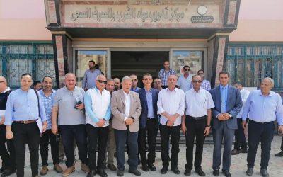 زيارة السيد المهندس ممدوح رسلان رئيس مجلس إدارة الشركه القابضه لمياه الشرب والصرف الصحى