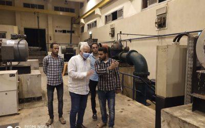 قام السيد المهندس محمد سعيد نشأت رئيس الشركه بزيارةمحطة مياه ابوحمص الجديده في إطار زيارته التفقديه المفاجأة