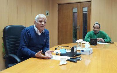 اجتمع السيد المهندس رئيس مجلس الادارة مع الشركات المنفذة للمشروعات القومية داخل المحافظة