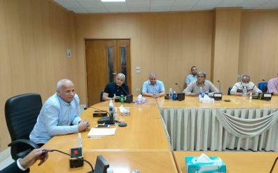 السيد المهندس رئيس مجلس الادارة يتابع اعمال التوسعات بمحطة مياه غرب النوبارية